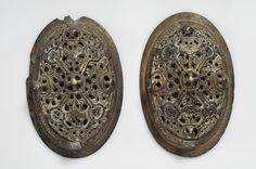 Bronze oval brooches. Björkö, Adelsö, Uppland, Sweden.