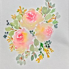 Quick floral doodle before I dash off for errands.