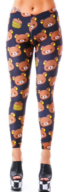 Japan L.A. Rilakkuma Pancake Leggings | Dolls Kill