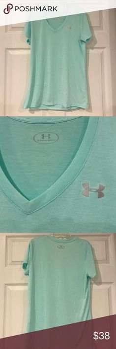 Under Armour V-Neck Excellent Condition Under Armour V-Neck Studio Tee. Beautiful Mint Green Color Under Armour Tops Tees - Short Sleeve