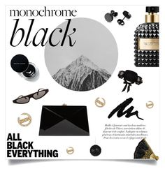 """""""All Black // Everything Black"""" by anduu19 on Polyvore featuring Rocio, Valentino, Dolce&Gabbana, River Island and allblackoutfit"""