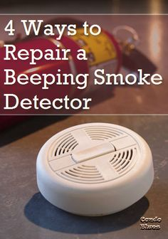 How to repair a beeping smoke detector, fire alarm