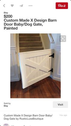 Painted X Design Barn Door Baby Dog Gate by by RusticLuxeBoutique  sc 1 st  Pinterest & Free Barn Door Baby Gate Plans! #barn_door #baby_gate #pet_gate ...