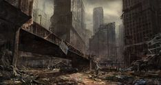 postapocalypticflimflam: After the Apocalypse, before the moss and ivy comes. (via beforesilence) Apocalypse World, Apocalypse Art, Apocalypse Aesthetic, Fallout, Art Café, Cyberpunk, Post Apocalyptic City, Utopia Dystopia, Matte Painting