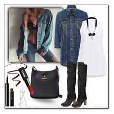 """""""contest entry denim jakets2"""" by art-gives-me-life ❤ liked on Polyvore featuring R13, Maiyet, Lanvin, Stila, Lancôme, Bobbi Brown Cosmetics, denimjackets and WardrobeStaples"""