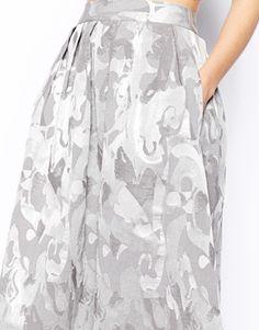 Image 3 ofASOS Midi Skirt In Camo Jacquard