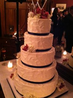 Beautiful wedding cake at Michelle Kwan and Clay Pell\'s wedding.
