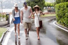 Channing Tatum and wife Jenna Dewan are in Italy at George Clooney's Villa Oleandra in Laglio, Lake Como. The couple and Clooney's girlfriend, Stacy Keibler visited Cernobbio, where unfortunately it was raining and they had to find shelter in 2 bars of the little village, Lido Bar and Harry's Bar. 7-14-2012