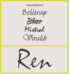 Calligraphic Scripts