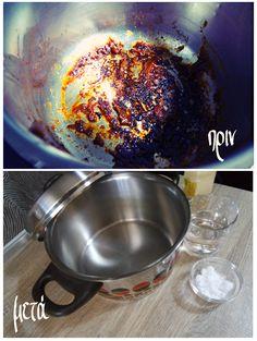 Μην πετάξετε την καμμένη κατσαρόλα. Αστράψτε την Wok, Kitchen, House, Ideas, Baking Center, Cooking, Kitchens, Haus, Cuisine