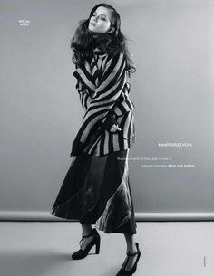 Kasia Struss in Dries Van Noten by Nagi Sakai for Elle France August 2014