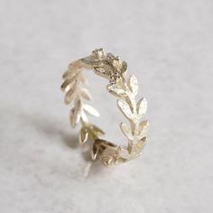 Olive leaf ring {R002K10}