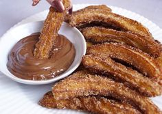 Homemade Churros / Sugarcane with Nutella - Mette Skutter Cakes Churros, Nutella, Bagel Chips, Healthy Sweets, Dessert Recipes, Desserts, Food Cravings, Bread Baking, Let Them Eat Cake