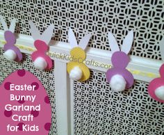 Easter Bunny Garland Craft for Kids