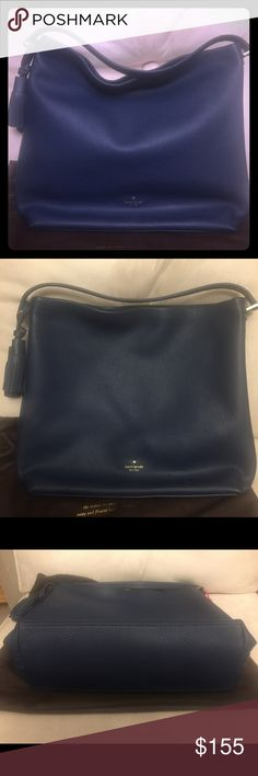 Kate Spade Natalya - EUC Blue Natalya Kate Spade ♠️ handbag. Excellent condition. Recently purchase from Poshmark and its slightly bigger than I had anticipated. All reasonable offers will be strongly considered, would consider trade. Cross posted. Motivated seller. Would also consider a trade for Tieks size 9. kate spade Bags Satchels