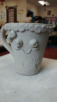 Kawaii Inspired Clay Slab Mug
