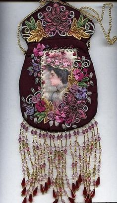 Victorian Quilted Purses | Victorian beaded purse