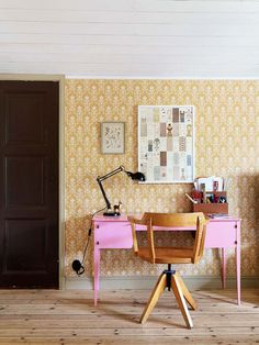 Ideas and inspiration Room Of One's Own, Vintage Soul, Office Desk, Interior, Inspiration, Furniture, Home Decor, Architecture, Wallpaper