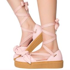 new concept 891c1 d90ba Puma Shoes   Puma Fenty By Rihanna Creeper Shoes. 8.5   Color  Pink