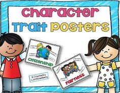 Help promote good character in your classroom with these adorable posters. Introduce a new trait each month, have the children write about what it means to them and how they feel they demonstrate the trait, and then have them vote for the person who they think best exemplifies the trait.