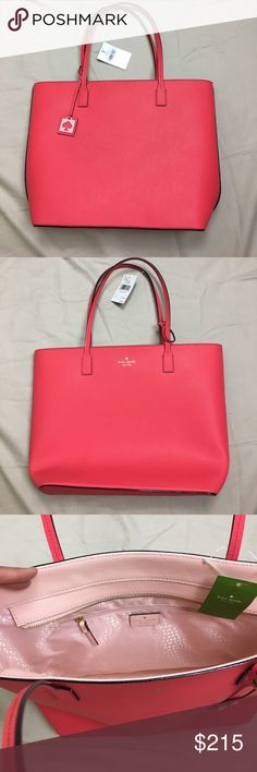 Kate Spade Bag, Red Kate Spade Purse, Kate Spade This is so stunning, the color combo is great.  This is a new, Kate Spade Karla Red and Pink Bag.  11.5 inches  tall by 16 inches wide. kate spade Bags Shoulder Bags