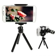 Mobile Phone Telescope Optical Zoom Lens Telescope Camera With Stand