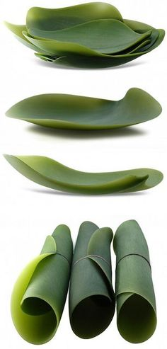 Flexible, leaf-shaped dishes. Great for a picnic...