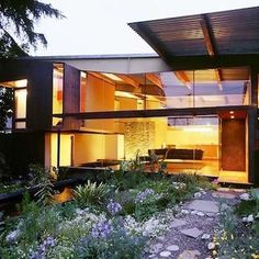Seatrain The Seatrain Residence, by the Office of Mobile Design, employed shipping containers and reclaimed steel to yield a sum vastly greater than its parts. Masking the structure's modest means of construction, the firm created a picturesque and cost-effective 3,000-square-foot home in the Brewery District of Los Angeles