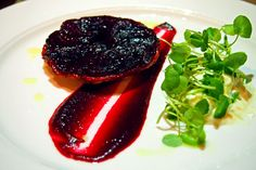 Beetroot tarte tatin with horseradish cream @ The Swan at The Globe