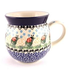 How cute are these ladybugs! Let's see more #PolishPottery at http://slavicapottery.com now! :)