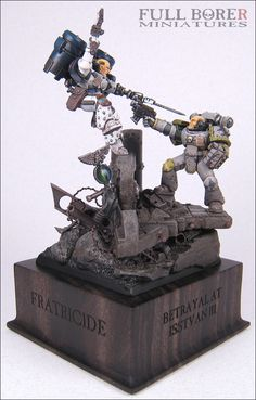 Fratricide::Gallery::Full Borer Miniatures    Betrayal at Isstvan III: gorgeous diorama.