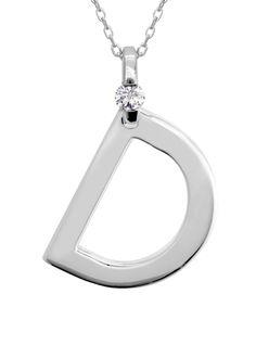 The Letter D: Small Diamond Initial Pendant  #diamonds  | heartsonfire.com