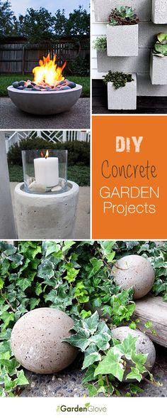 DIY Concrete Garden Projects • Ideas  Tutorials! #diy #garden #concrete #projects #planters