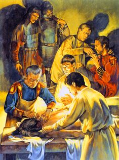 Late Roman medical treatment for the wounded soldiers