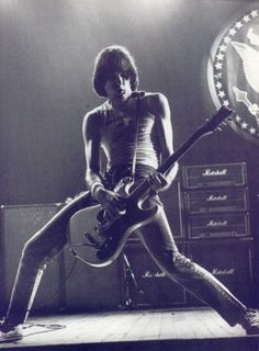 Johnny Ramone and his white mosrite