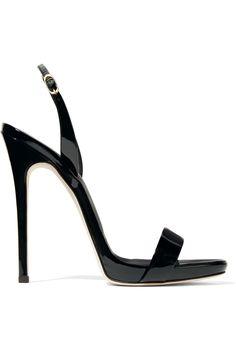 GIUSEPPE ZANOTTI Sophie patent-leather slingback sandals   €450.00 https://www.net-a-porter.com/product/741047 #giuseppezanottiheelszapatos
