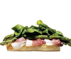 12. Open-Faced Prosciutto and Asparagus