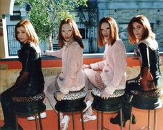 A coven of Willows - real Willow, vampire Willow, stunt vampire Willow, and stunt Willow