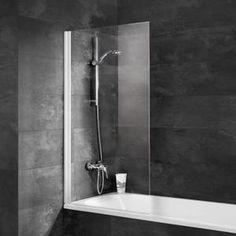 Pare-baignoire Komfort, 69,5 x 130 cm, 1 volet pivotant, profilé blanc - Achat / Vente porte de baignoire Pare-baignoire Komfort, 69,... - Cdiscount