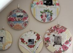 Much ado about Vintage Hankies: Framed and used as mats