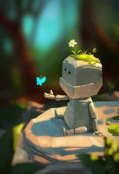 Goro Fujita is creating Live Painting and Animation Tutorials - Art Prints Arte Robot, Robot Art, Character Concept, Character Art, Concept Art, Art And Illustration, Fantasy Kunst, Fantasy Art, Anime Kunst