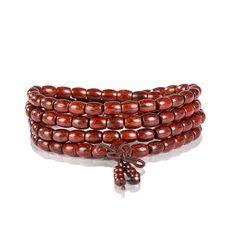New 2016 Design India Lobular Red Sandalwood Charm Beads Bracelets For Women Multilayer Buddha Bracelet Wooden Beads Jewelry