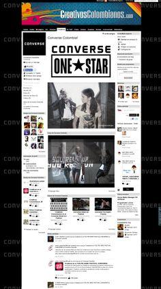 Landingpage para Converse Colombia para campañas al interior de Creativos Colombianos