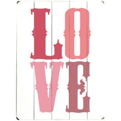 Love Wall Art I in Pink
