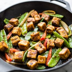Jamaican Jerk Tofu Stir Fry - an easy and healthy 30 minute dish that is packed with spice!