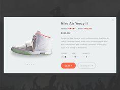 Day 002 - Product Card - Nike Air Yeezy 2 by Nicolas Wongsosaputro