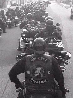 Outcast MC of Alabama- Vintage Biker Clubs, Motorcycle Clubs, Biker Photography, Portrait Photography, Outlaws Motorcycle Club, Bike Gang, Custom Sport Bikes, Biker Gear, Bike Life
