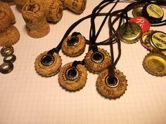 Bottle Caps & Champagne Corks Into Necklace