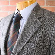 Brooks Brothers Black Gray Herringbone 100 Wool Sportcoat Blazer USA 37S   eBay