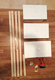 DIY Ladder Shelf From Old Drawers